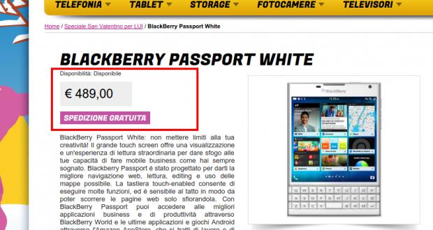BlackBerry Passport White   Gli Stockisti  Smartphone  cellulari  tablet  accessori telefonia  dual sim e tanto altro
