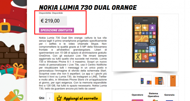 Nokia Lumia 730 Dual Orange   Gli Stockisti  Smartphone  cellulari  tablet  accessori telefonia  dual sim e tanto altro