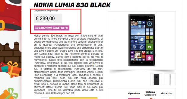 Nokia Lumia 830 Black   Gli Stockisti  Smartphone  cellulari  tablet  accessori telefonia  dual sim e tanto altro