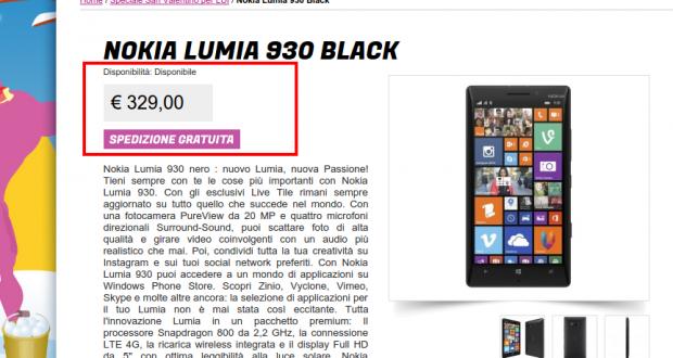 Nokia Lumia 930 Black   Gli Stockisti  Smartphone  cellulari  tablet  accessori telefonia  dual sim e tanto altro