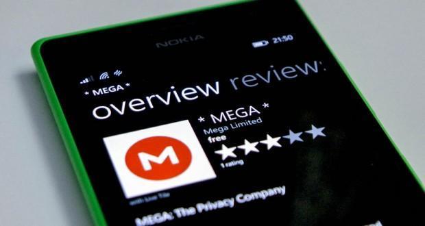 MEGA 2.0 Windows Phone