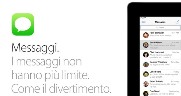 Messaggi per iOS 8