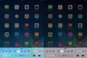 Come eliminare la trasparenza in iOS 8