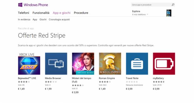 Offerte Red Stripe   Store di app e giochi per Windows Phone  Italia