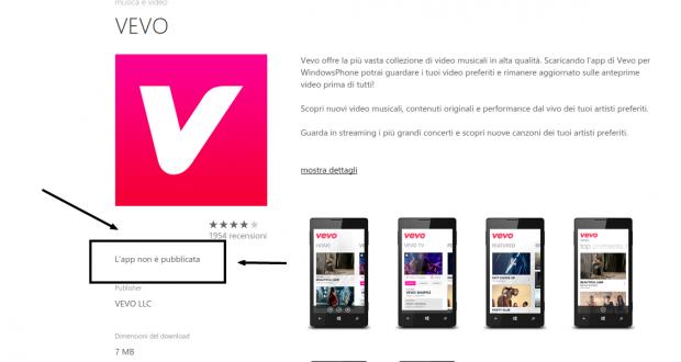VEVO   Store di app e giochi per Windows Phone  Italia