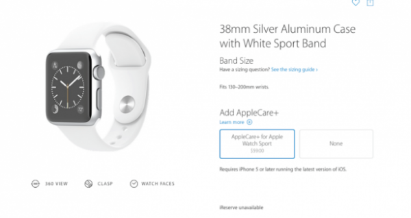 AppleCare+ Apple Watch Sport