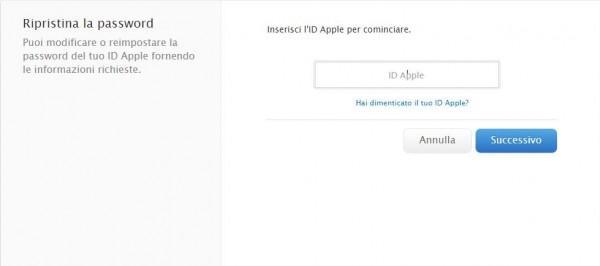Come cambiare password all'Apple ID 2