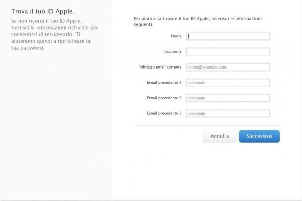 Come cambiare password all'Apple ID 3