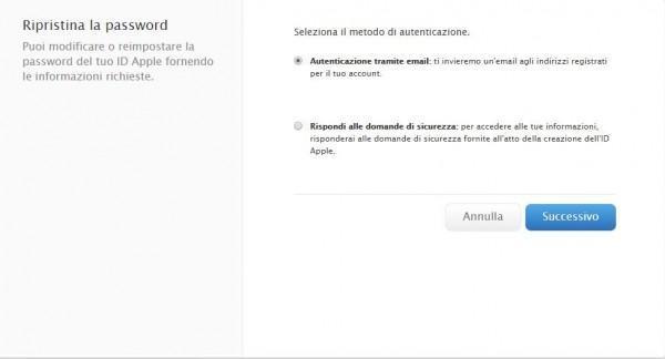 Come cambiare password all'Apple ID 4