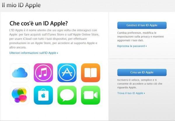 Come cambiare password all'Apple ID