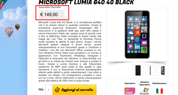 Microsoft Lumia 640 4G Black   Gli Stockisti  Smartphone  cellulari  tablet  accessori telefonia  dual sim e tanto altro