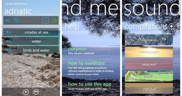sound meditation windows phone store