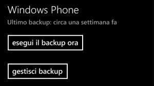 Backup Windows Phone Dati 2