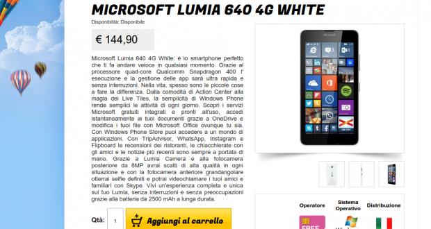 Microsoft Lumia 640 4G White   Gli Stockisti  Smartphone  cellulari  tablet  accessori telefonia  dual sim e tanto altro