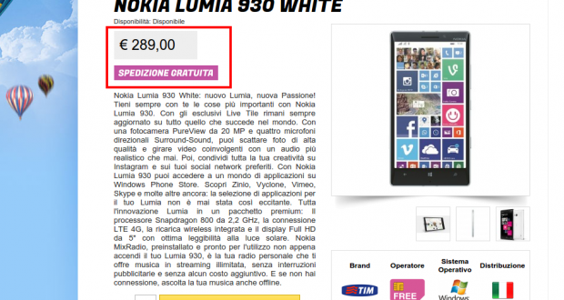 Nokia Lumia 930 White   Wifi Charger   Gli Stockisti  Smartphone  cellulari  tablet  accessori telefonia  dual sim e tanto altro