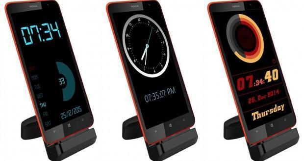dock clock windows phone