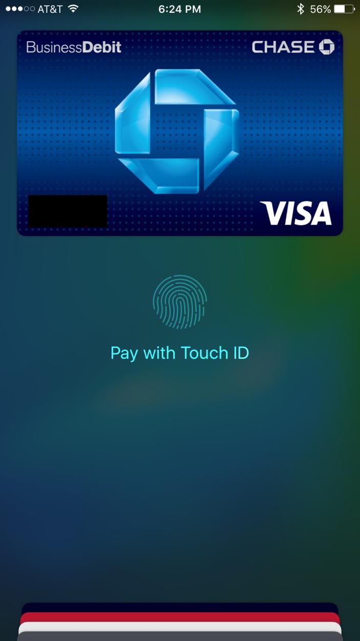 iOS 9 Apple Pay