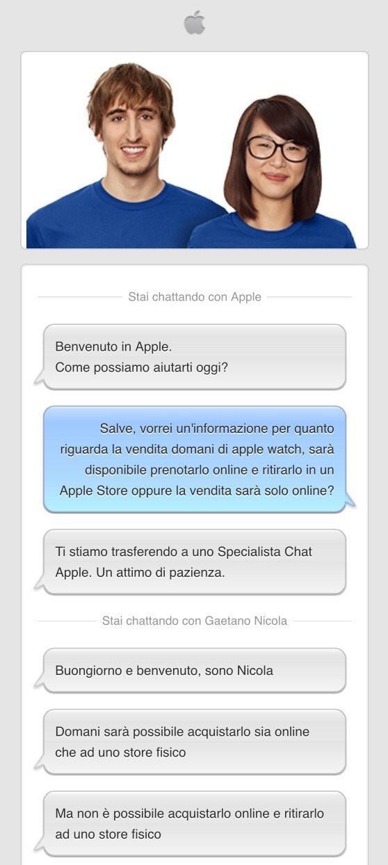 Apple Watch Assistenza