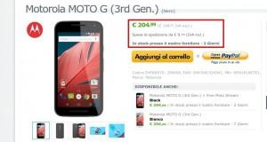 Motorola MOTO G  3rd Gen.   Nero   SM4181AE7E1   EXPANSYS Italia