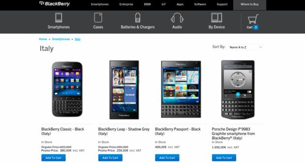 ShopBlackBerry Online Store   Italy