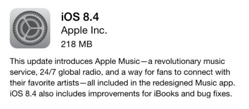 iOS 8.4 Rilascio