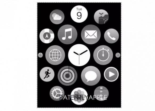 Apple watch UI brevetto