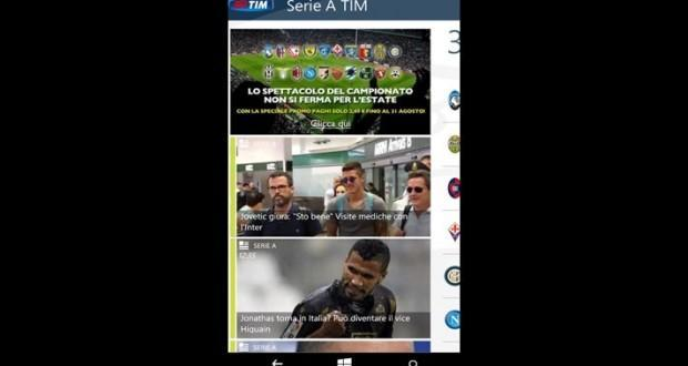 serie a tim per windows phone 1