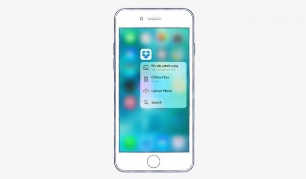 Dropbox iOS 9 3D Touch