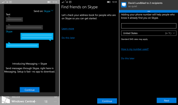 Messaging Skype Beta