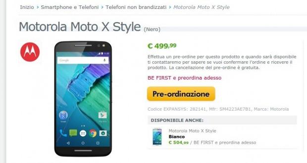 Motorola Moto X Style  Nero   SM4223AE7B1   EXPANSYS Italia