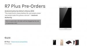 Oppo R7 Plus Pre Orders   OppoStyle Europe