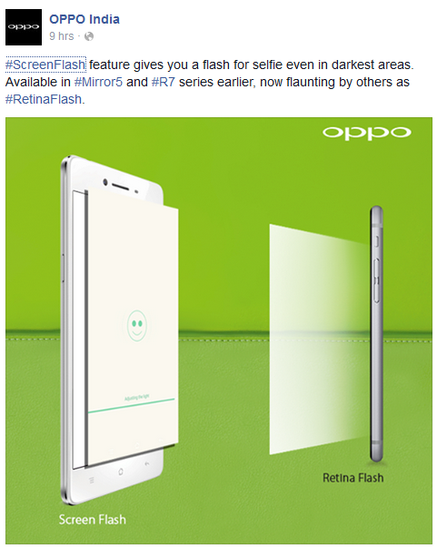 Oppo Screen Flash