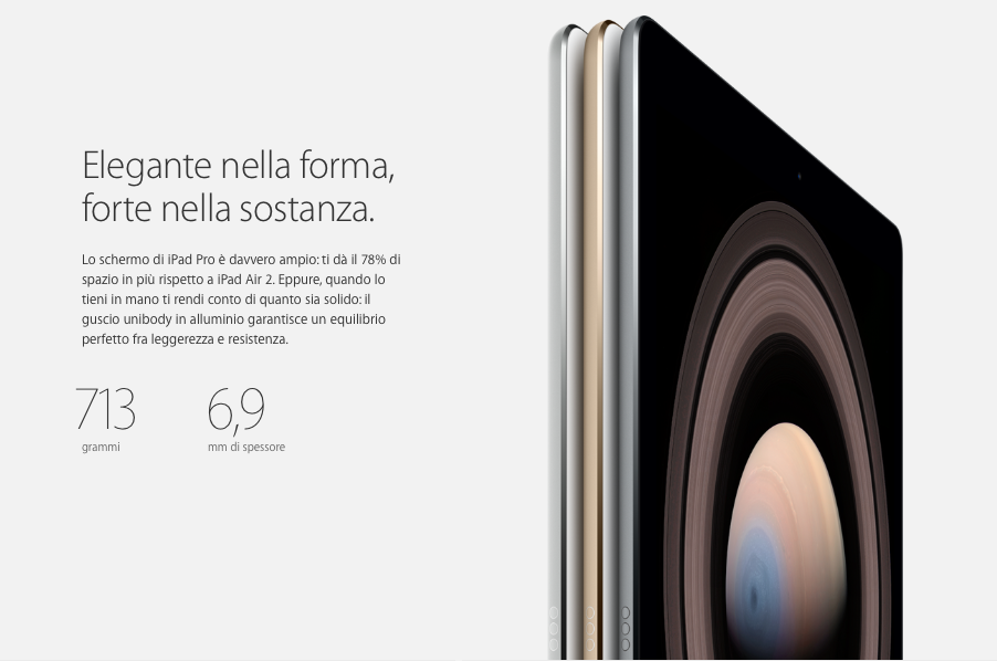 iPad Pro Dimensioni