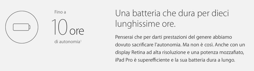 iPad Pro Batteria