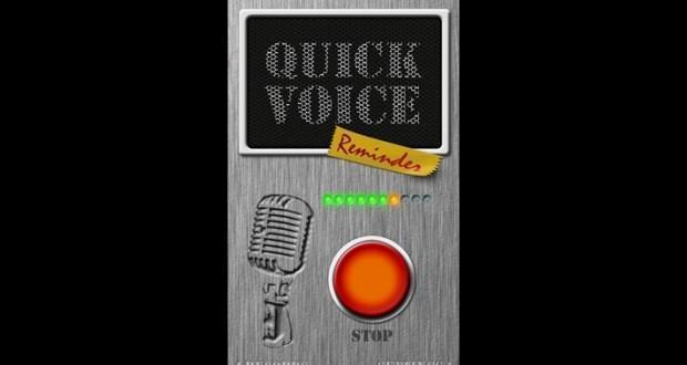 quick voice reminder