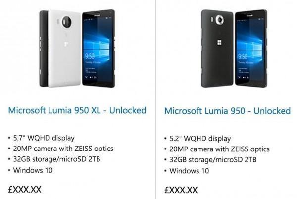 Lumia 950 Lumia 950 XL Caratteristiche