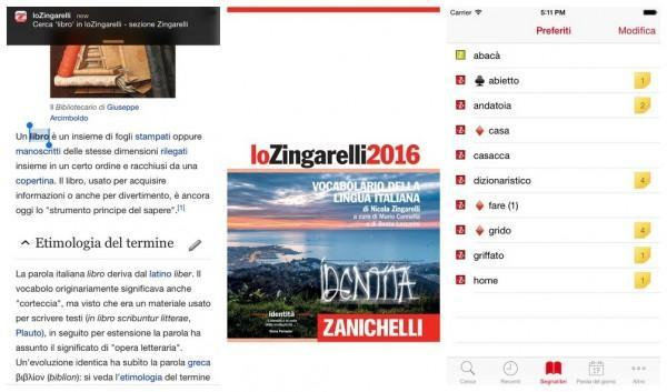 zingarelli 2016 iphone e ipad