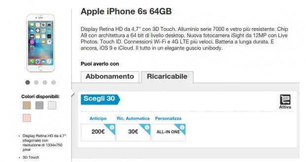 Apple iPhone 6s 64GB  Prezzo e Caratteristiche