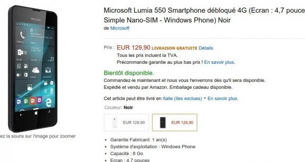 Microsoft Lumia 550 Smartphone débloqué 4G  Ecran   4 7 pouces  Amazon.fr  High tech