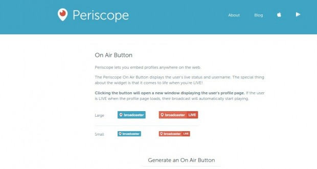 Periscope  main Embed