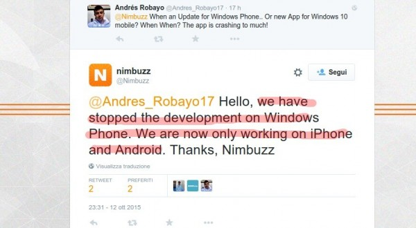 nimbuzz per windows phone