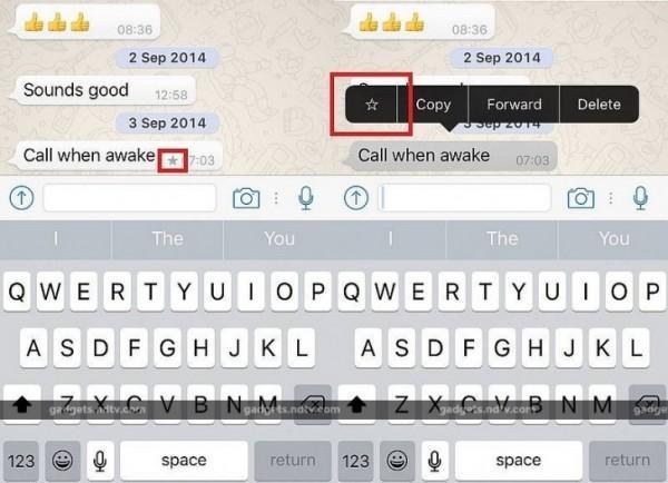 whatsapp per ios messaggi importanti