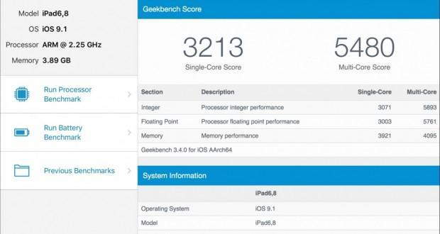 iPad Pro Geekbench 3