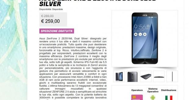 Asus ZenFone 2 ZE551ML Dual 32GB Silver   Gli Stockisti  Smartphone  cellulari  tablet  accessori telefonia  dual sim e tanto altro