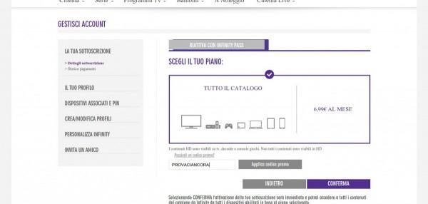 Film e Serie TV tramite Servizio Streaming su Infinitytv Italia 2