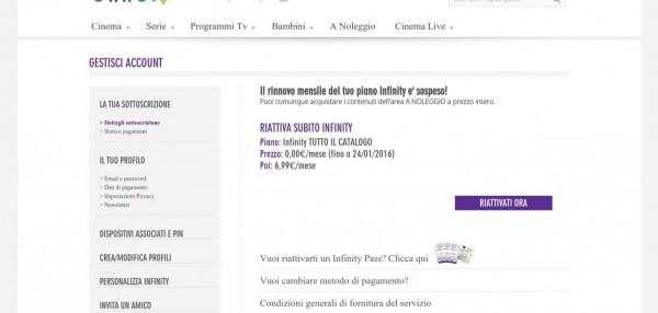 Film e Serie TV tramite Servizio Streaming su Infinitytv Italia 3
