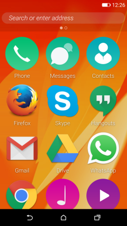 Firefox OS 2.5 preview Android