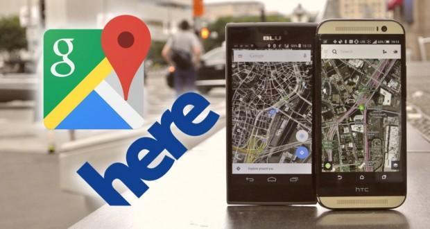HERE Maps offline vs Google Maps offline