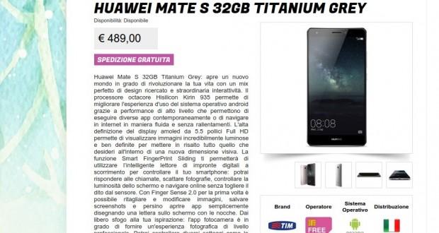 Huawei Mate S 32GB Titanium Grey   Gli Stockisti  Smartphone  cellulari  tablet  accessori telefonia  dual sim e tanto altro