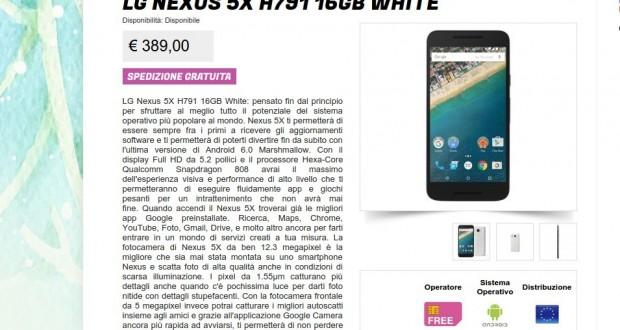 LG Nexus 5X H791 16GB White   Gli Stockisti  Smartphone  cellulari  tablet  accessori telefonia  dual sim e tanto altro